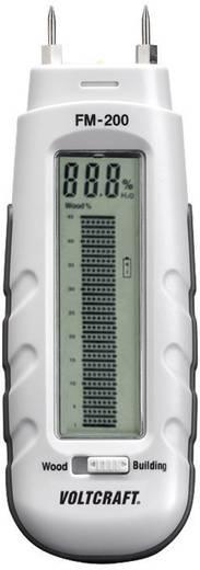 Materialfeuchtemessgerät VOLTCRAFT FM-200 Messbereich Baufeuchtigkeit (Bereich) 0.2 bis 2 % vol Messbereich Holzfeuchtig