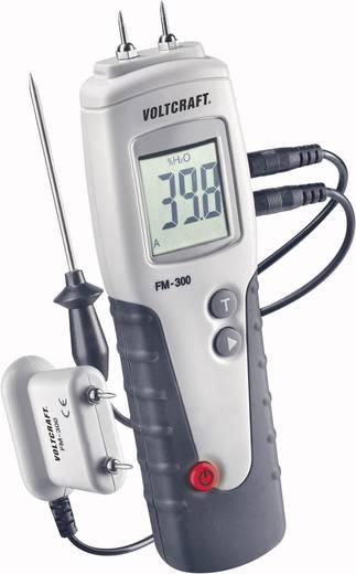 Materialfeuchtemessgerät VOLTCRAFT FM-300 Messbereich Baufeuchtigkeit (Bereich) 6 bis 99 % vol Messbereich Holzfeuchtigkeit (Bereich) 6 bis 99 % vol Temperaturmessung