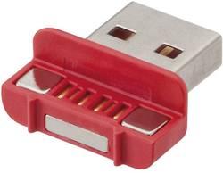 Magnetický USB 2.0 konektor Rosenberger 267353, zástrčka rovná, červená