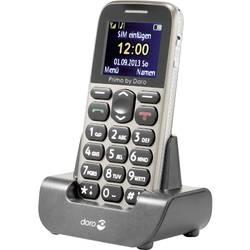Primo by DORO 215 telefón pre seniorov nabíjacej stanice, tlačidlo SOS béžová