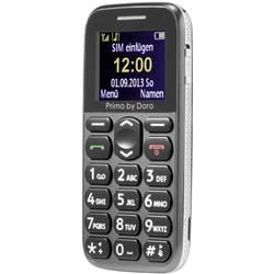 Primo by DORO 215 telefón pre seniorov nabíjacej stanice, tlačidlo SOS sivá
