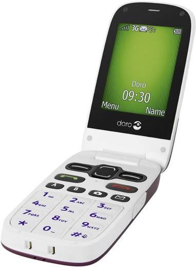 doro PhoneEasy 621 Senioren-Klapp-Handy Weinrot, Weiß