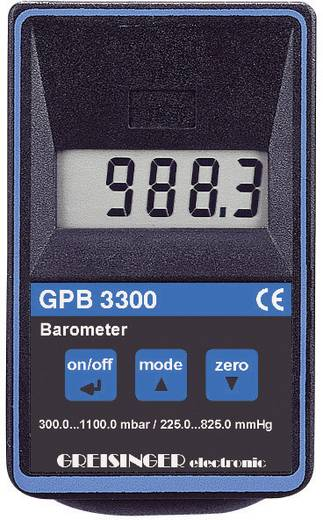 Druck-Messgerät Greisinger GPB 3300 Luftdruck 0.3 - 1.1 bar Kalibriert nach DAkkS