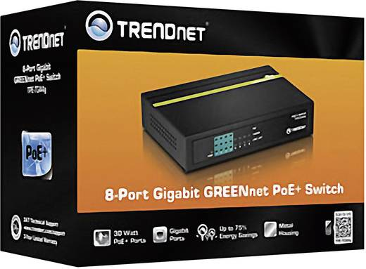 Netzwerk Switch RJ45 TrendNet TPE-TG44G 8 Port 1 Gbit/s PoE-Funktion