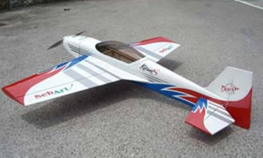 Sebart Katana S 30E Blau, Rot RC Motorflugmodell ARF 1028 mm