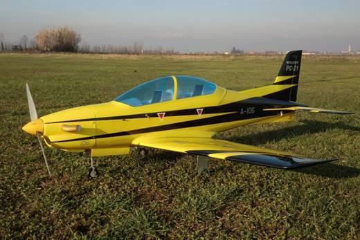 Sebart PC-21 50E Gelb, Schwarz RC Motorflugmodell ARF 1510 mm