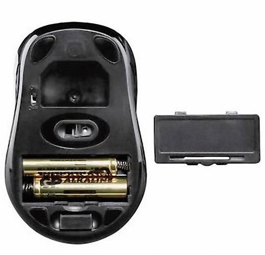 Hama AM-7300 Funk-Maus Optisch Schwarz