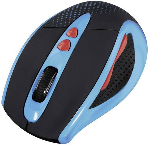 Funk-Maus Optisch Hama Knallbunt 2.0 Blau