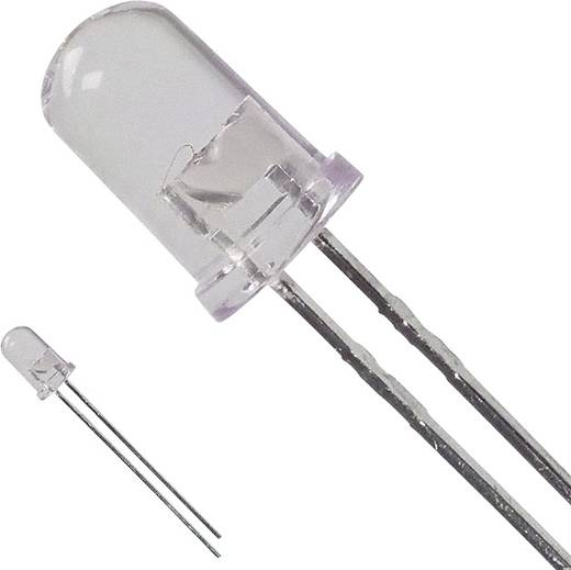 LED bedrahtet Rot Rund 5 mm 14.1 cd 8 ° 50 mA 1.9 V Broadcom HLMP-EG08-X1000
