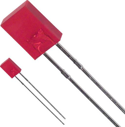 LED bedrahtet Rot Rechteckig 2 x 5 mm 80 mcd 110 ° 30 mA 1.7 V LUMEX SSL-LX2573SRD