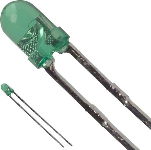 LED bedrahtet Grün Rund 3 mm 40 mcd 30 ° 25 mA 2.2 V LUMEX SSL-LX3044GT
