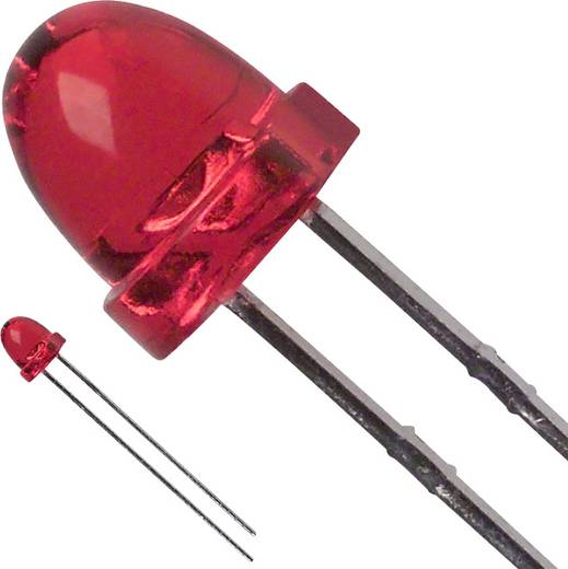 LED bedrahtet Rot Rund 5 mm 50 mcd 30 ° 30 mA 2 V LUMEX SSL-LX5063IT