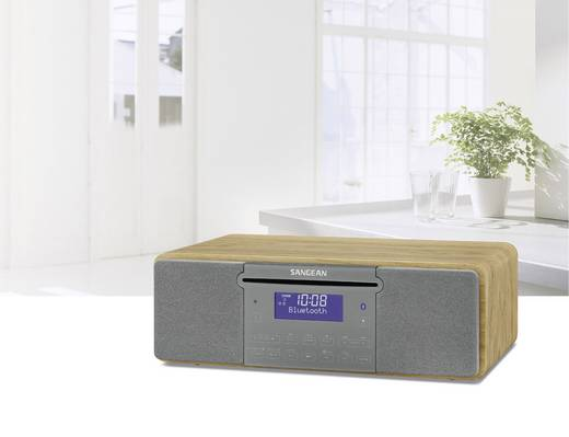 DAB+ Tischradio Sangean DDR-47 BT AUX, CD, DAB+, SD, UKW, USB Holz