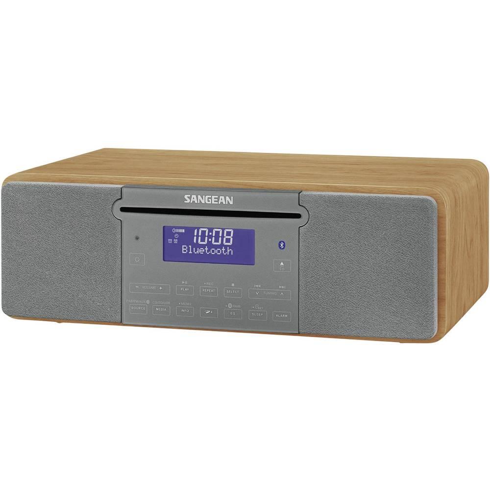 Sangean DDR-47 BT Tafelradio DAB+, FM AUX, CD, SD, USB Hout