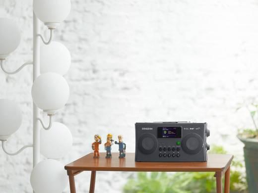 Sangean WFR-29C Internet Kofferradio AUX, DAB+, UKW, USB DLNA-fähig, Akku-Ladefunktion Schwarz