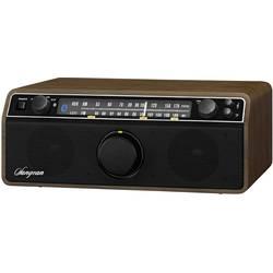 FM stolní rádio Sangean WR-12 BT Walnuss, AUX, Bluetooth, SV, FM, dřevo