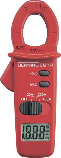 Stromzange, Hand-Multimeter digital Benning CM 1-1 Kalibriert nach: DAkkS CAT III 600 V Anzeige (Counts): 2000