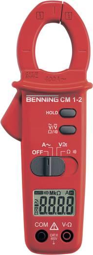 Stromzange, Hand-Multimeter digital Benning CM 1-2 Kalibriert nach: Werksstandard (ohne Zertifikat) CAT III 600 V Anzei