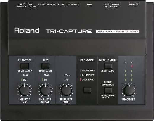 Audio Interface Roland UA-33 inkl. Software, Monitor-Controlling