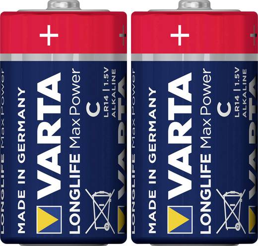 Baby (C)-Batterie Alkali-Mangan Varta Max Tech LR14 1.5 V 2 St.