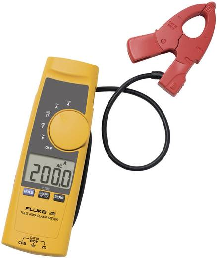 Stromzange, Hand-Multimeter digital Fluke 365 Kalibriert nach: Werksstandard CAT III 600 V, CAT IV 300 V Anzeige (Count