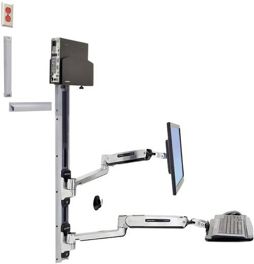 """Ergotron Monitor-Wandhalterung 25,4 cm (10"""") - 106,7 cm (42"""") Neigbar+Schwenkbar, Rotierbar"""