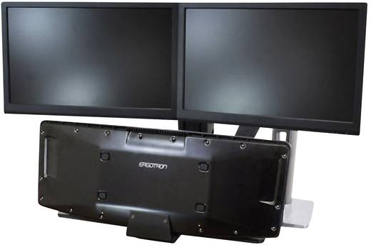 """Ergotron WorkFit-A Dual 2fach Monitor-Tischhalterung 25,4 cm (10"""") - 61,0 cm (24"""") Neigbar+Schwenkbar, Rotierbar"""