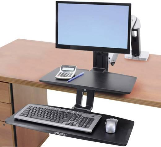 """Monitor-Tischhalterung 25,4 cm (10"""") - 61,0 cm (24"""") Neigbar+Schwenkbar, Rotierbar Ergotron WorkFit-A mit tiefer gelegt"""