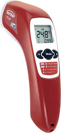 Testboy TV 325 Infrarot-Thermometer Optik 12:1 -60 bis +500 °C Kontaktmessung Kalibriert nach: ISO