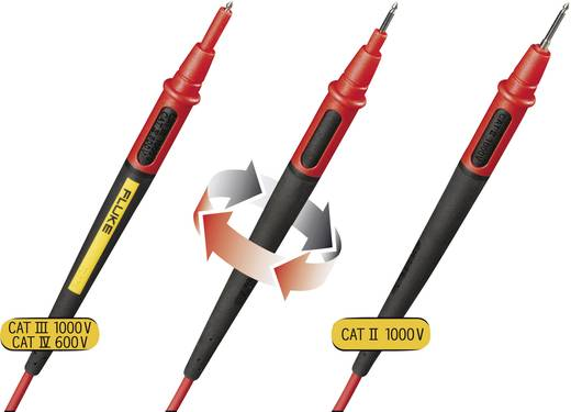 Sicherheits-Messleitungs-Set [ Lamellenstecker 4 mm - Prüfspitze] 1.50 m Schwarz, Rot Fluke TL175