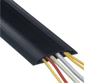 Black PVC cable duct