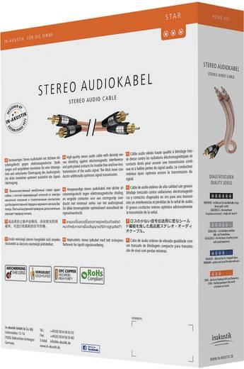 Cinch Audio Anschlusskabel [2x Cinch-Stecker - 2x Cinch-Stecker] 5 m Transparent vergoldete Steckkontakte Inakustik