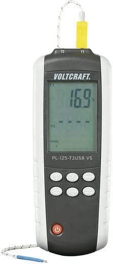 Temperatur-Messgerät VOLTCRAFT PL-125-T2 -200 bis +1372 °C Fühler-Typ K, J Kalibriert nach: DAkkS