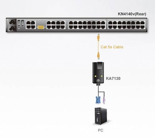KVM Adapter [1x Mini-DIN-Stecker, PS/2-Stecker - 1x RJ45-Buchse] 0.09 m Schwarz ATEN
