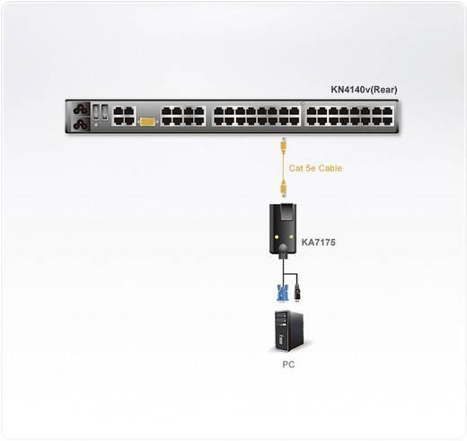 KVM Adapter [1x SPHD-15-Stecker, USB 1.1 Stecker A - 1x RJ45-Buchse] 0.09 m Schwarz ATEN