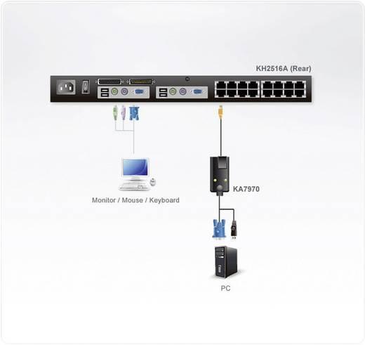 KVM Adapter [1x USB 1.1 Stecker A, VGA-Stecker - 1x RJ45-Buchse] 4.50 m Schwarz ATEN