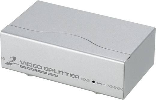 ATEN VS92A-AT-G 2 Port VGA-Splitter 1920 x 1440 Pixel Silber