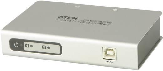2 Port Seriell-Hub mit Konverter für USB- auf Seriell RS-232 ATEN UC2322-AT Weiß