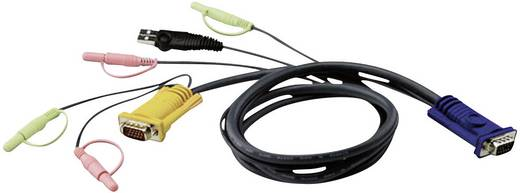 KVM Anschlusskabel [1x VGA-Stecker - 1x VGA-Stecker, USB 1.1 Stecker A] 3 m Schwarz ATEN