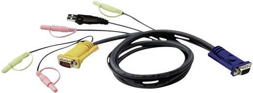 KVM Anschlusskabel [1x VGA-Stecker - 1x VGA-Stecker, USB 1.1 Stecker A] 5 m Schwarz ATEN