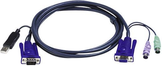 KVM Anschlusskabel [2x PS/2-Stecker, SPHD-15-Stecker - 2x PS/2-Stecker, SPHD-15-Stecker] 3 m Schwarz ATEN