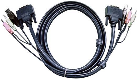 KVM Anschlusskabel [2x Klinkenstecker 3.5 mm, DVI-Stecker 18+1pol., USB 2.0 Stecker A - 2x Klinkenstecker 3.5 mm, DVI-St