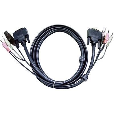KVM Anschlusskabel [2x Klinkenstecker 3.5 mm, DVI-Stecker 24+1pol., USB 2.0 Stecker A - 2x Preisvergleich