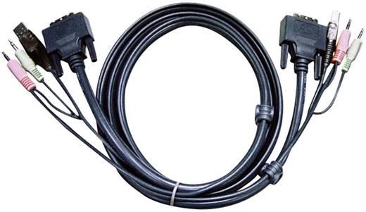 KVM Anschlusskabel [2x Klinkenstecker 3.5 mm, DVI-Stecker 24+1pol., USB 2.0 Stecker A - 2x Klinkenstecker 3.5 mm, DVI-St