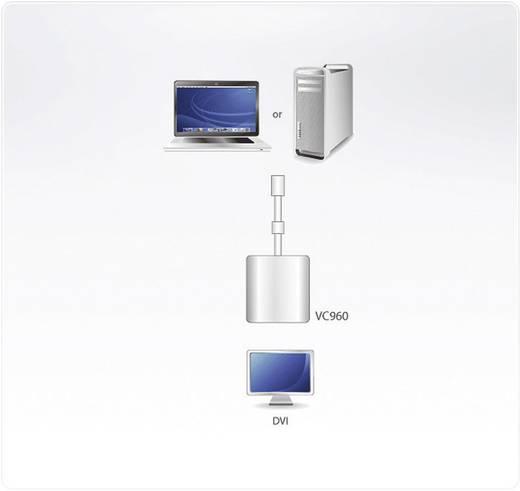 ATEN DisplayPort / DVI Adapter [1x Mini-DisplayPort Stecker - 1x DVI-Buchse 24+5pol.] Weiß