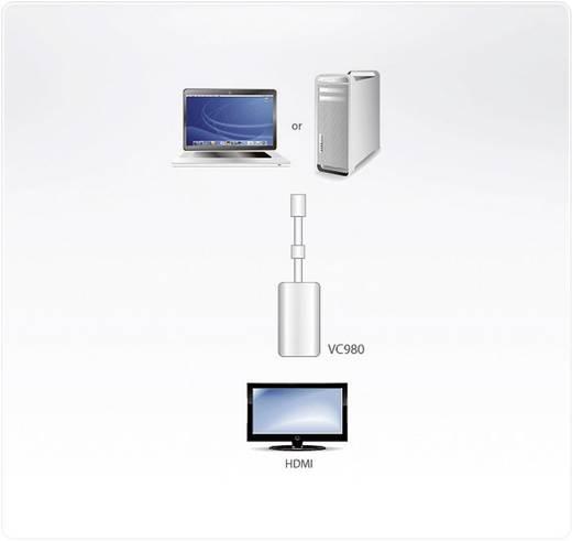DisplayPort / HDMI Adapter [1x Mini-DisplayPort Stecker - 1x HDMI-Buchse] Weiß ATEN