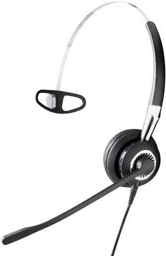 Telefon-Headset QD (Quick Disconnect) schnurgebunden, Mono Jabra BIZ 2400 On Ear Schwarz, Silber