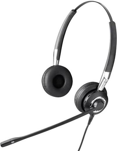 Telefon-Headset QD (Quick Disconnect) schnurgebunden, Stereo Jabra BIZ 2400 On Ear Schwarz, Silber