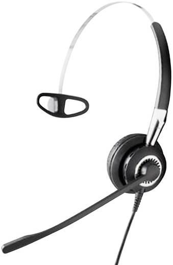 Telefon-Headset QD (Quick Disconnect) schnurgebunden, Mono Jabra BIZ™ 2400 IP 3in1 On Ear Schwarz, Silber