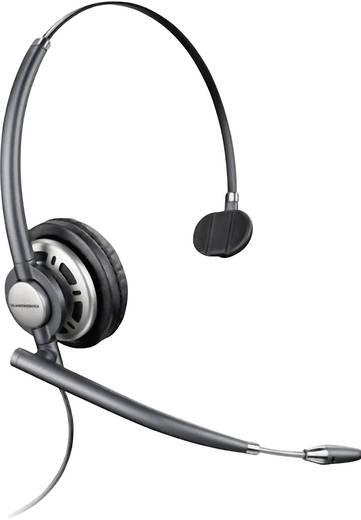 Telefon-Headset QD (Quick Disconnect) schnurgebunden, Mono Plantronics Encore PRO UC HW291N/A On Ear Schwarz, Silber